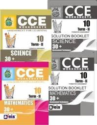 cce worksheets class 10 term 2 science maths buy cce
