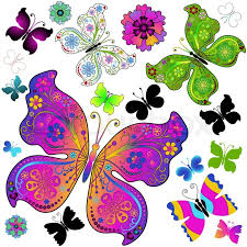 colorful butterfly designs this can be colored with colored