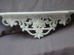 Shabby Chic Wall Shelves by Ugly Old Gold Shelf Updated To Oh So Shabby Chic Aj U0027s