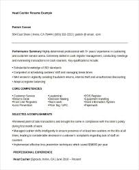 resumes for cashiers cashier resume example 6 free word pdf documents download