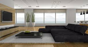 living room entertainment furniture decorations modern home theater in living room with black sofa