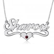 Name And Birthstone Necklace Necklace With Birthstones And Names The Necklace