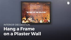 how to hang pictures on plaster walls diy projects youtube