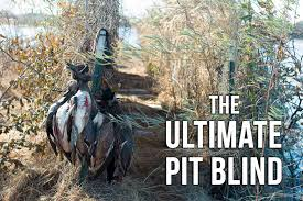 How To Make A Duck Blind Mossberg Blog Creative Duck Blind Plans A Pit Blind Revolution