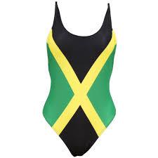 Haitian And Jamaican Flag Caribbean Jamaica Flag One Piece Swimsuit Swimwear Us Size