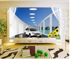 online get cheap 3d wallpaper walls cars aliexpress com alibaba 3d wallpaper modern for living room murals space car tv backdrop mural wallpaper wall decoration