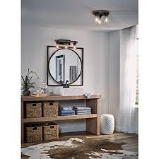 Black Distressed Bathroom Vanity Kichler Lighting 3 Light Barrington Distressed Black And Wood