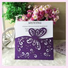 purple wedding invitations 50pcs purple wedding invitation cards laser cut