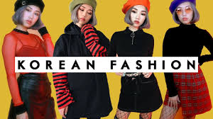 korean fashion haul lookbook youtube