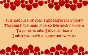 anniversary card for message anniversary wishes for parents wishesmessages