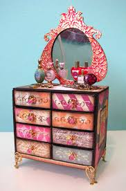 How To Make Dolls House Furniture How To Matchbox Dresser Link To Tutorial Love The Colors For A
