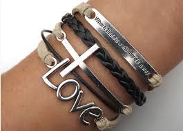 love braided bracelet images Arrow heart cross love inspirational bracelet telesthesia png