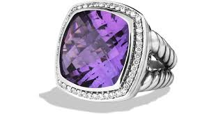 amethyst diamond rings images Lyst david yurman albion ring with amethyst diamonds in metallic jpeg