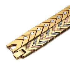 energy bracelet magnetic images Magnetic men gold stainless steel bracelet rainso jewelry jpg
