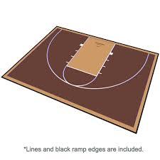 basketball court floor kit backyard 46x30