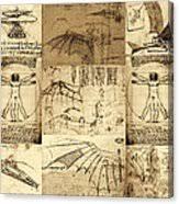 leonardo da vinci invention sketches poster framed print by nenad