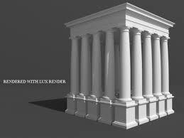 Greek Pedestal Roman Tuscan Column Entablature U0026 Pedestal 3d Model Architecture