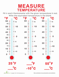 best ideas of measuring temperature worksheets also free