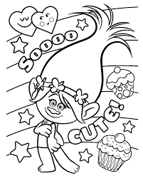 trolls colouring pages print nice coloring pages kids