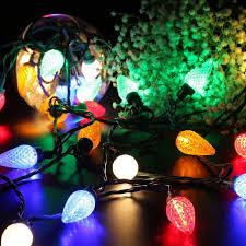 faceted c9 led lights 25 led 16ft decorative