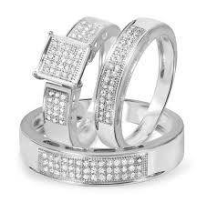 Trio Wedding Ring Sets by Jewelry Rings Diamond Trio Wedding Ring Set Mtr10147w1 Trio