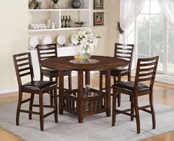 Counter Height Dining Room Set by Acme Theodora 5 Pc Drop Leaf Counter Height Dining Table Set In
