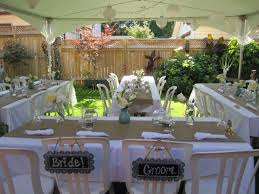 Backyard Wedding Decorations Ideas Astonishing Planning A Small Backyard Wedding Images Decoration