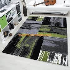 grand tapis cuisine tapis vintage vert pour salon