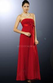 Red Sash Graceful Strapless Red Sash Girls Bridesmaid Dress Uk