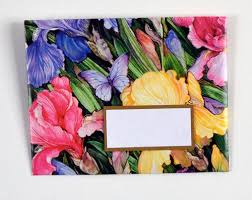 beautiful wrapping paper envelope made with a beautiful floral wrapping paper