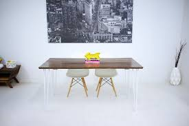 Hairpin Leg Dining Table Buy Hand Made Mid Century Modern Black Walnut Dining Table Powder