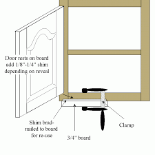 jig for setting hinges and doors