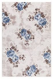 Blue Brown Area Rugs Beige Blue Affordable Rugs Transitional Floral Discount Area