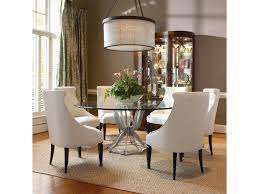 century omni metal base dining table and upholstered chair set
