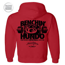 600 pound bench press club hoodie ironville clothing