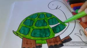 video for kids youtube kidsfuntv how to color tortoise coloring page for kids to learn youtube