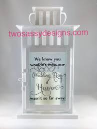 Wedding Memorial Memory Lantern Wedding Lantern Memory Table Wedding Candle