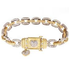 bracelet with hearts images Stambolian woven gold bracelet with diamond hearts at 1stdibs jpg