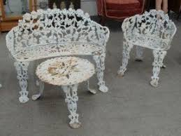 Antique Cast Iron Garden Benches For Sale by Cast Iron Patio Tables Foter