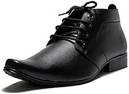 s leather boots shopping india oora s faux leather black color ankle length shoes office wear