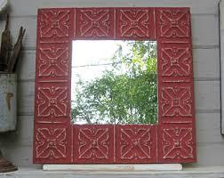 Entryway Wall Mirror Ceiling Tile Mirror Etsy