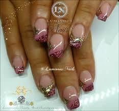 luminous nails bridesmaid nails rose pink u0026 gold nails