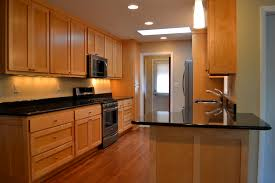 travertine countertops kitchens with black lighting flooring