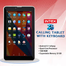 buy intex 3g calling tablet with keyboard online at best in