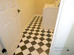Linoleum Kitchen Flooring by How To Paint Linoleum Floors Like The Harlequin Pattern