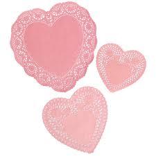 heart doilies set of 72 pink heart paper doilies rex london dotcomgiftshop