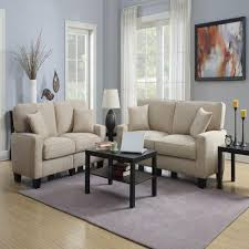serta sofas living room furniture the home depot rta martinique navarre beige espresso polyester sofa