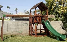 Playground Sets For Backyards by Refurbished Redwood Play Sets Swingsetsolutions Com