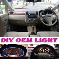 nissan tiida interior 2015 car atmosphere light flexible neon light el wire interior light