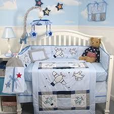 Airplane Crib Bedding Soho Airplane Baby Crib Nursery Bedding Set 13 Pcs